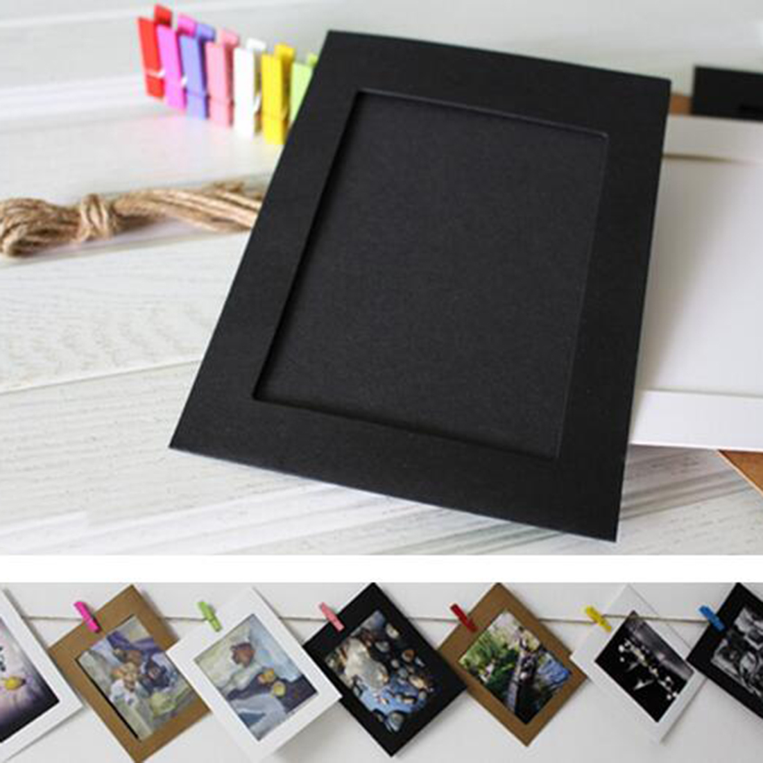 new style high quality new style 10pcs 6inch beautiful paper photo frames vintage frame photo picture