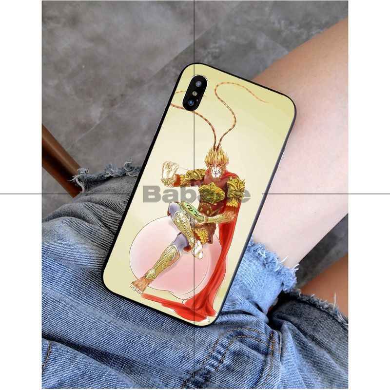 Babaite Monkey King Сунь Укун Coque Shell Phone Чехол для iPhone 6 S 6 plus 7 plus 8 8 Plus X Xs MAX 5 5S XR