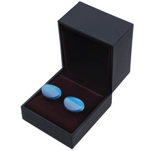 HAWSON Wholesale 12 Pcs Cufflinks Boxes Gift Storage Cases for Shop Jewelry Carrying Case Black