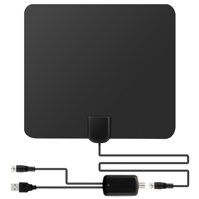 SOONHUA Dünne 50 Meile Range Indoor High Gain Dvb-t <font><b>Digital</b></font> <font><b>TV</b></font> Antenne <font><b>Tv</b></font>-antenne Verstärker Flache Design für HDTV DTV box image