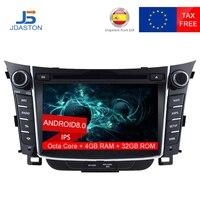JDASTON 2 DIN Octa Core 4G+32G Android 8.0 Car DVD Player For HYUNDAI i30 2011 2012 2013 Multimedia GPS Navigation Radio Audio