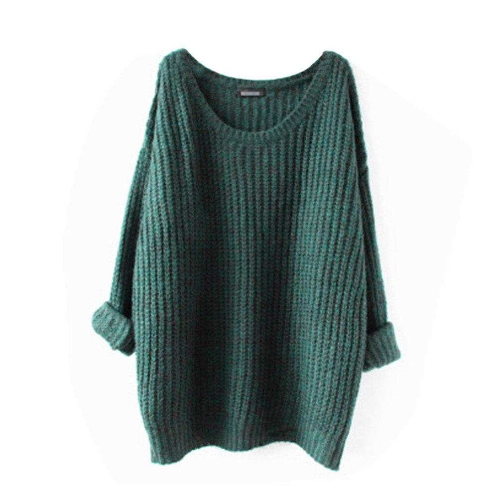 Medium Length Women Loose Sweaters