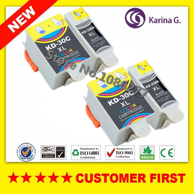 2sets Compatible Ink Cartridge For Kodak 30 KD ESP C110 310