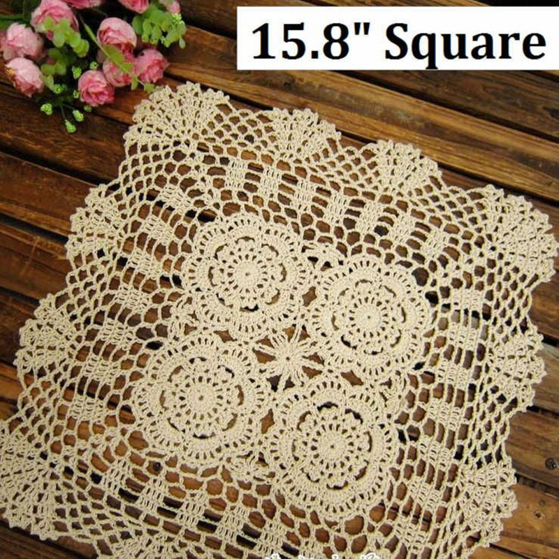 158 Inches 40cm Squarecorcheted Lace Placemat Handmade Crochet