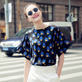 New Fashion Summer 2017 Top Tees Batwing Sleeve Women T-shirts Loose Style Elegant Shirt Alien Clothing Women Tops