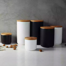 S M L Nordic Coffee Storage Tank Kitchen Container 2019 Sugar Tea E Jar With Lids Ceramic
