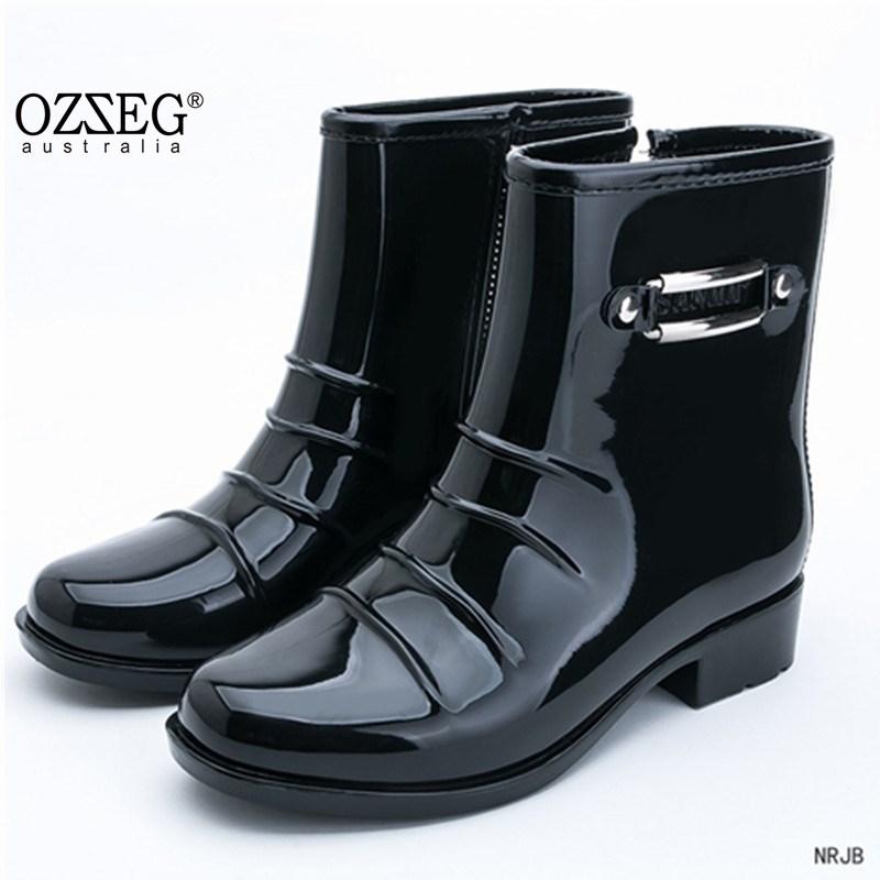 Мужская мода Balck Rain Boots Male 2018 Новые - Мужская обувь