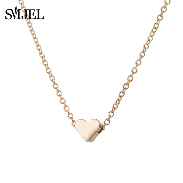 Smjel new valentines day tiny love heart necklaces pendants long smjel new valentines day tiny love heart necklaces pendants long chain simple heart charm necklaces women aloadofball Images