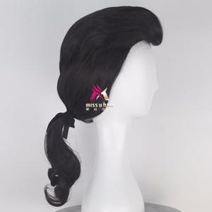 Image 5 - Biamoxer יופי והחיה נסיך גסטון פאה שחור קצר פאת קוספליי ליל כל הקדושים תפקיד לשחק שיער