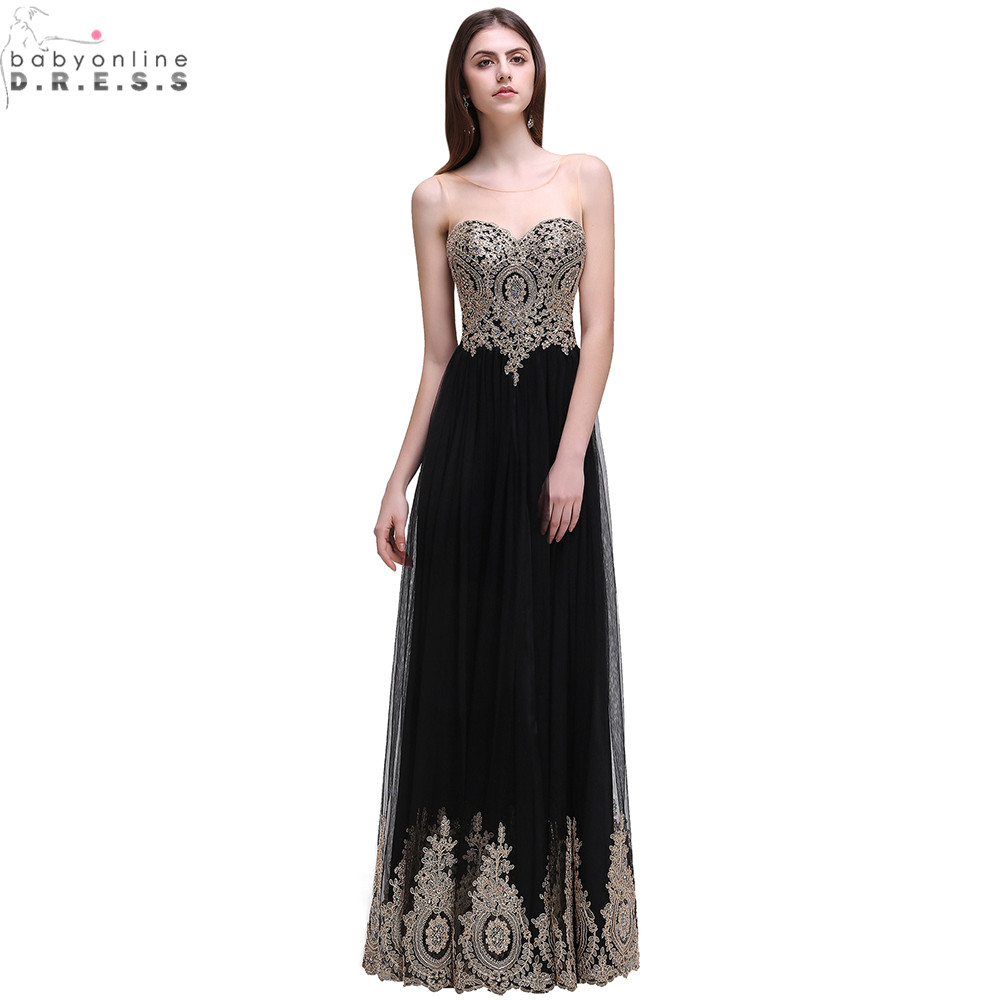 Robe de Soiree Longue Sexy Backless Beaded Lace Black Long ...