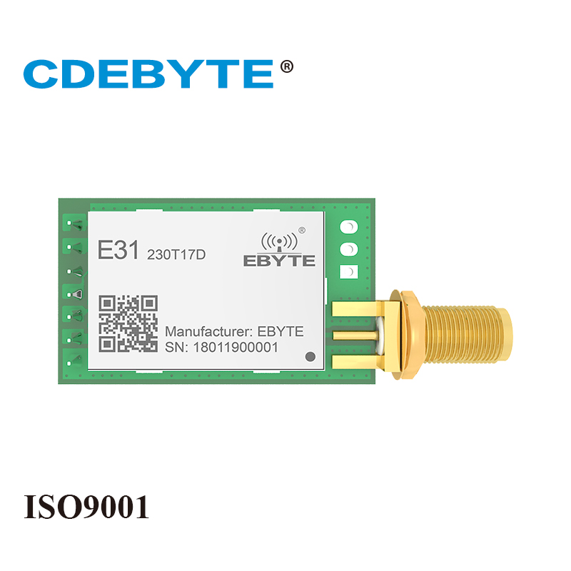 E31-230T17D Strong Penetration UART AX5043 230mhz 50mW SMA Antenna IoT Uhf Wireless Transceiver Transmitter Receiver Module