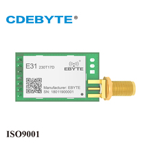 2Pc/Lot CDEBYTE E51-TTL-50 230MHz AX5043 Wireless Transceiver rf Module UART Receiver Module With Wifi Antenna USB Breadboard usr wifi232 a2 free shipping industrial serial ttl uart to wifi wireless module with on board antenna dhcp dns function