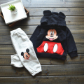 Free Shipping! Boys Girls Cartoon Clothing Sets, Children hoodies + soft pants 2pcs clothes kids warm wear e463