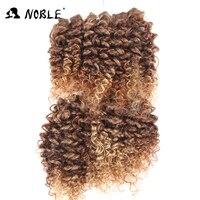 Noble Ombre Haar Bundels Afro Kinky Krullend Haar 14-18 Inches Synthetisch Haar Weave Jerry Krul Krullend Haar Weven 6 stks/partij