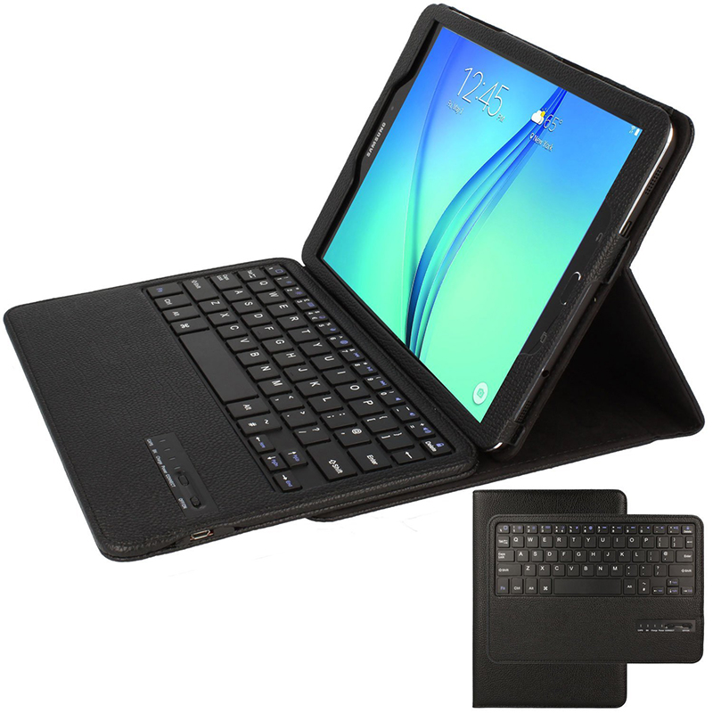 Bluetooth Keyboard Case for Samsung Galaxy Tab S2 9.7 T810 T815, Wireless Keyboard Protective Case for Tab S2 9.7 Stand Case hat prince protective case w call display stand for samsung galaxy note 4 n9100 white