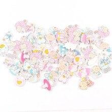 Без отверстий смешанные синие/розовые мини детские деревянные пуговицы для скрапбукинга ремесло для детей коробка украшения орнамент 25 мм 20 шт MT1952