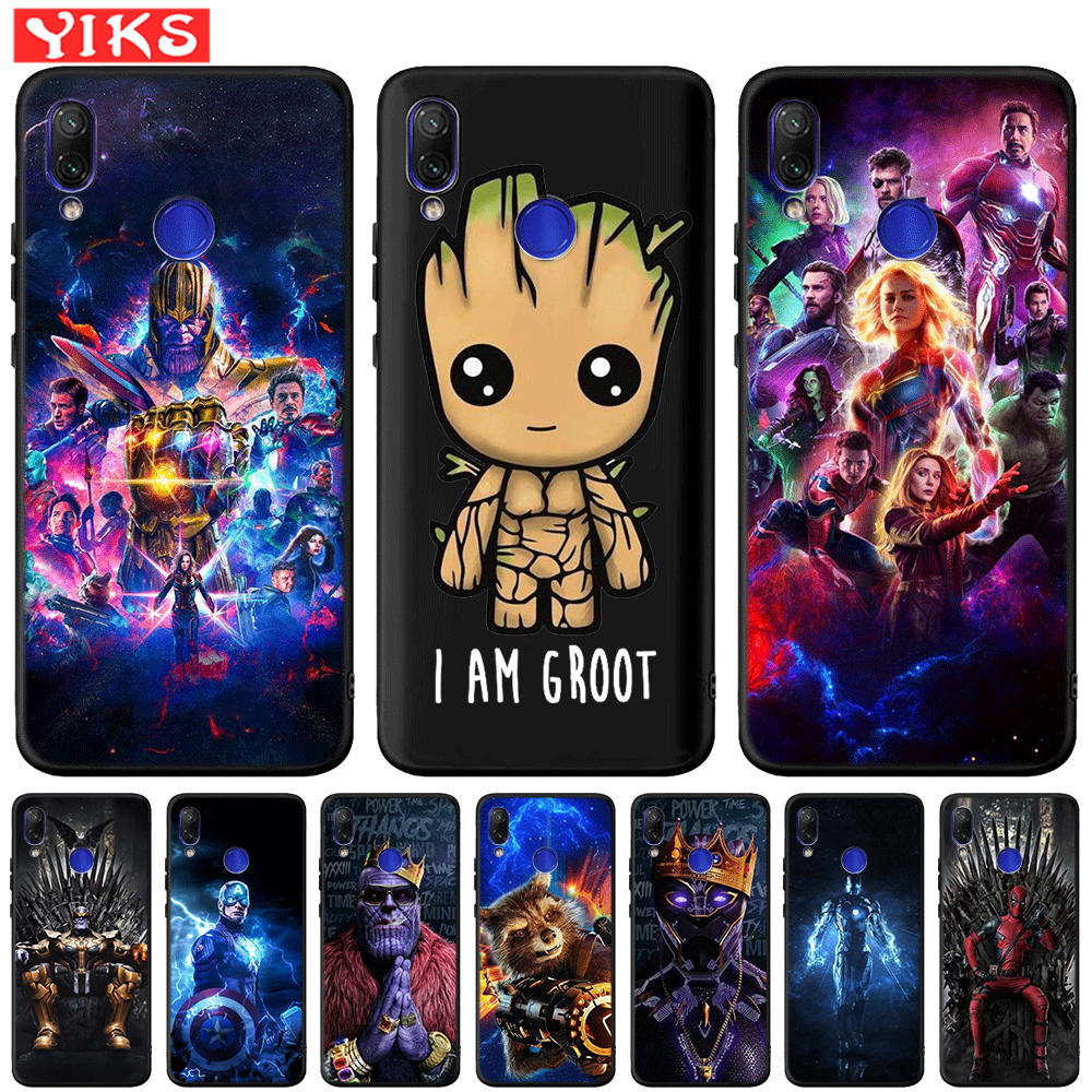 Nette Groot Marvel Avengers Hero Fall Für Xiao mi Red mi Hinweis 7 6 Pro 6A 5A Prime mi A1 <font><b>5X</b></font> A2 Lite 6X4X5 Plus Pocophone F1 Abdeckung image
