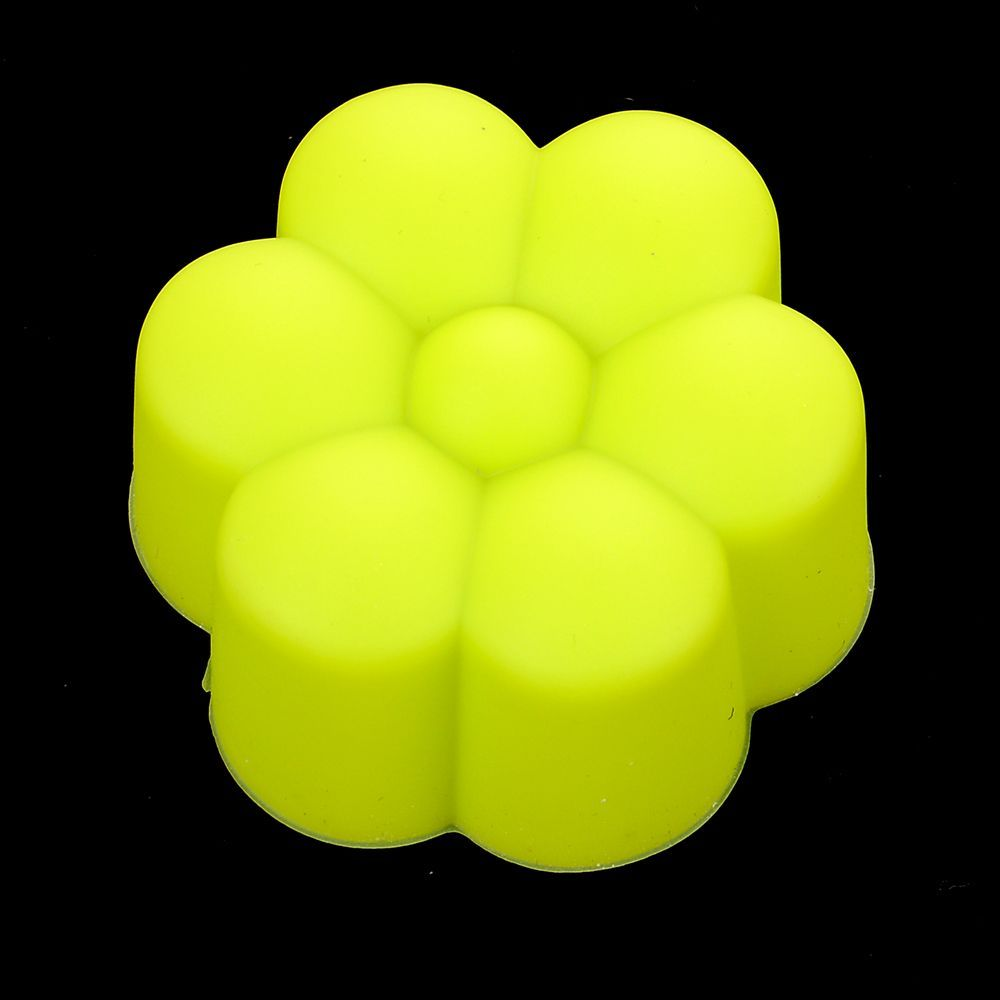 20F# Flower Shaped Silicon Cake Baking Molds Jelly Mold Silicon Cupcake Pan Muffin Cup 5cm
