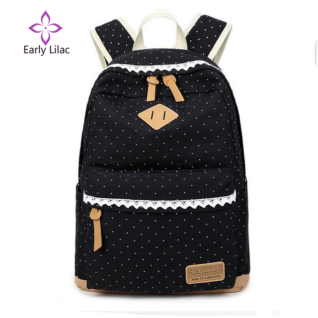 9f199b55d4cc New Korean Canvas Printing Backpack Women School Bags for Teenage Girls  Cute Bookbags Vintage Laptop Backpacks Female