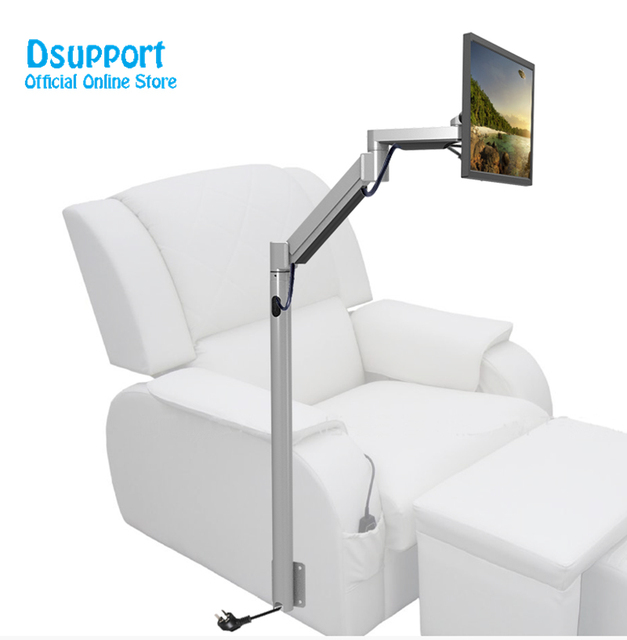 Customized Floor Mount Monitor Holder Stand Sofa Bedside Fixed Tv For Foot Mage Chair
