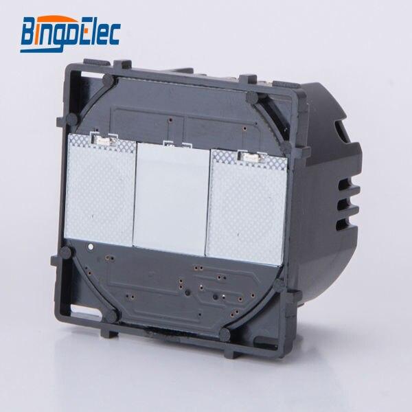 Funzione di interruttore 1 gang 1way touch illuminazione electeic parte, senza pannello, EU/UK standard, vendita calda