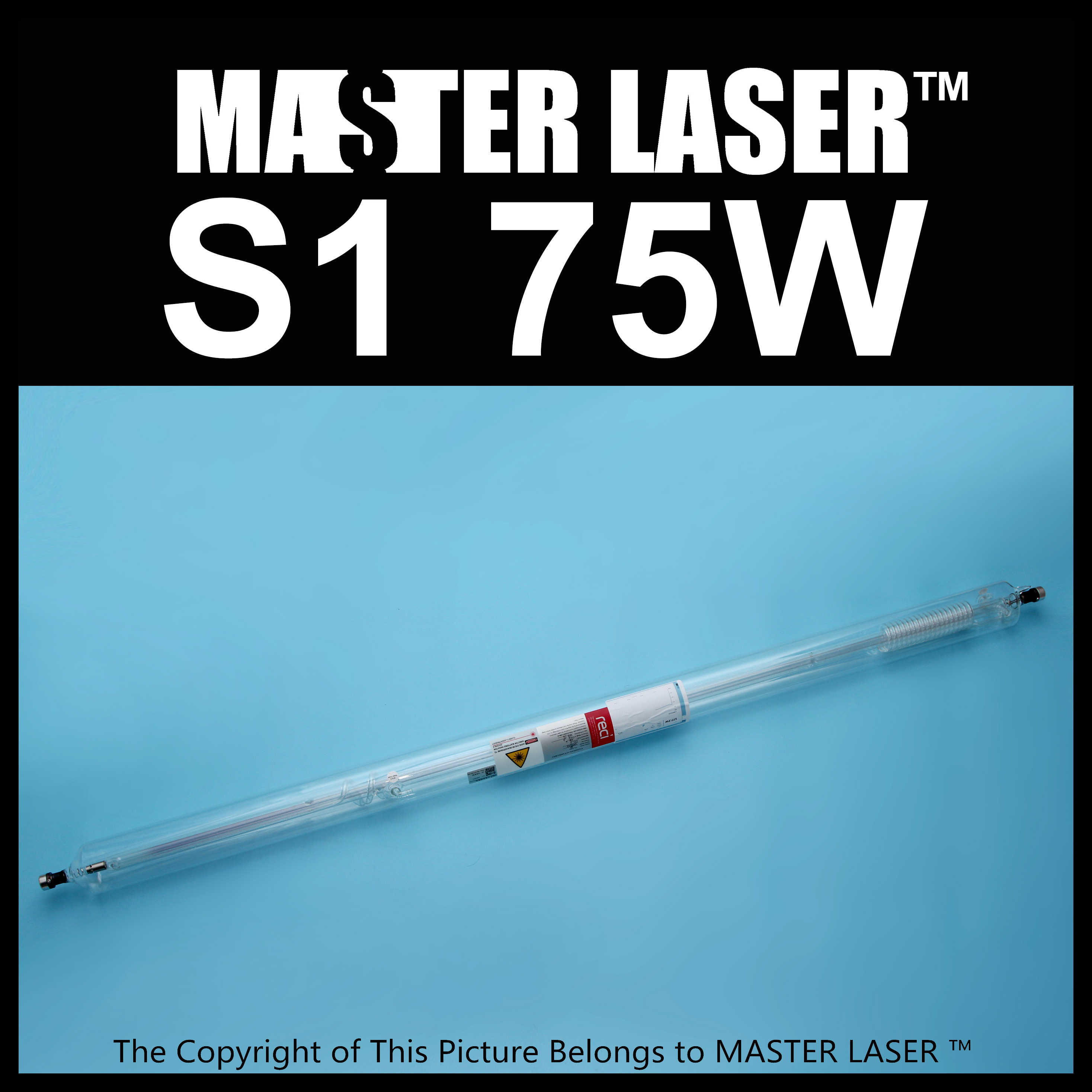 Reci Laser Tube S1 75W Peak Power 90W for CNC Laser Cutting Machine free shipping reci w2 90w co2 laser tube wooden box packing tube length 1200mm diameter 80mm