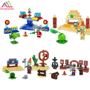 387pcs Plants vs Zombies Garden Game Building Blocks Bricks Kids DIY Toys