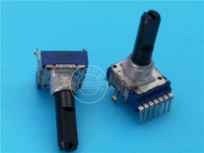 b10k 2 pcs para alps volume de potenciometro para pioneer mixer eq 7 pes com ponto