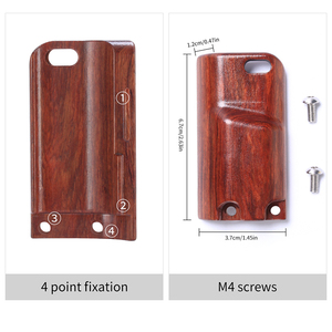 Image 5 - UURIG R009 Wooden Hand Grip for Sony A6400 A6300 A6100 Metal Cage Protective Case Camera Cage Stabilizer DSLR Camera Accessories