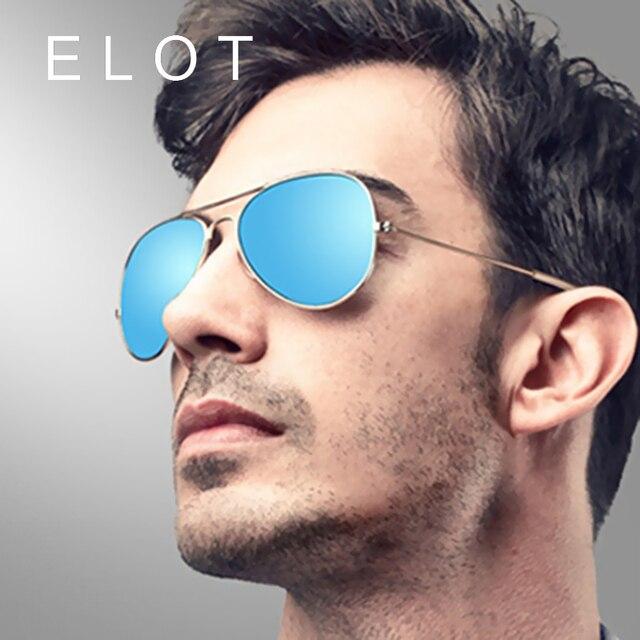 Elot Fashion Vintage Men Polarized Pilot Sunglasses Women Brand