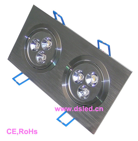 Free shipping by DHL !! CE,good quality Square 6W LED Downlight,LED recessed light,ceiling LED spotlight,110-250VAC,DS-CSL-11-6W
