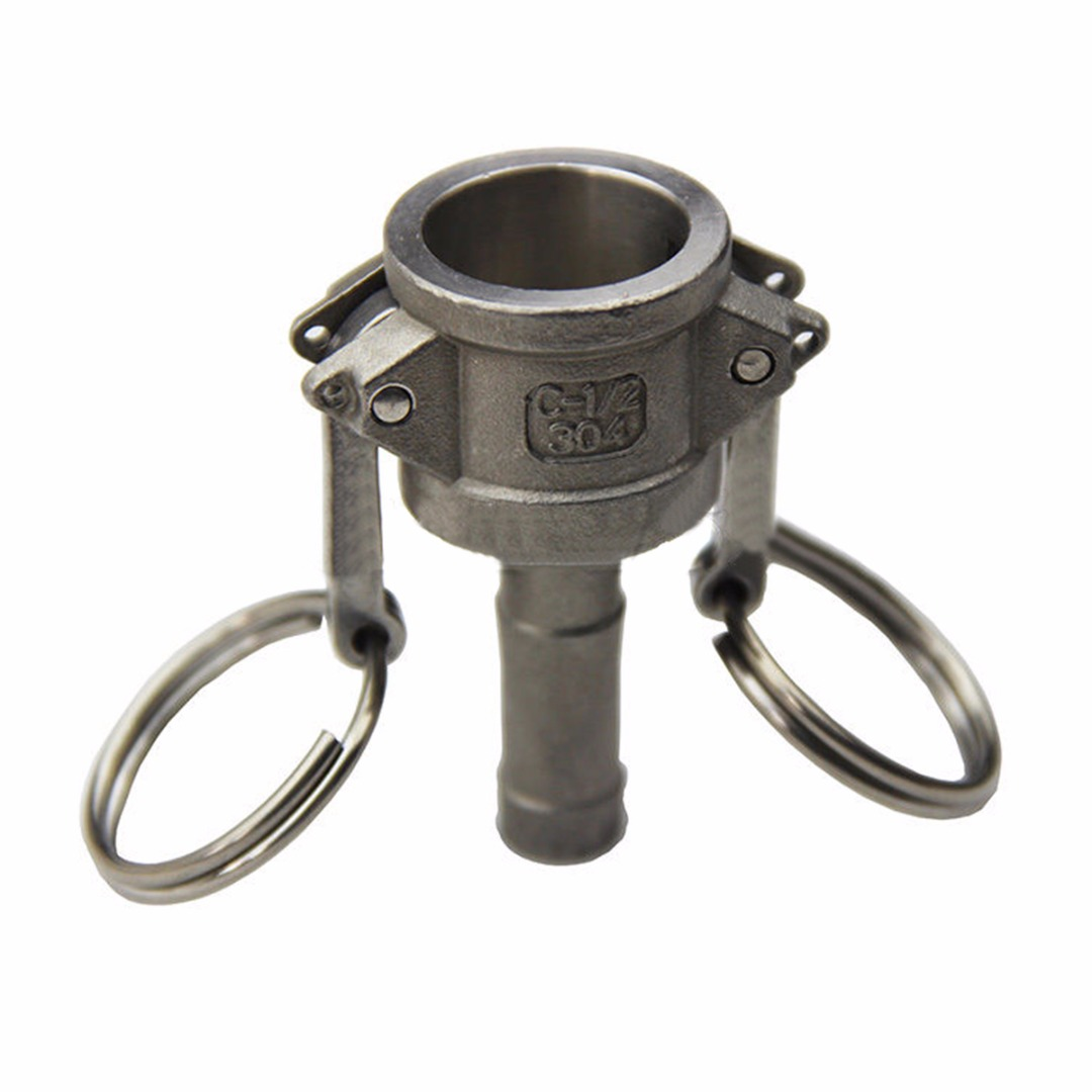 304 Stainless Steel Homebrew Camlock Fitting Adapter 1/2 inch MPT FPT Barb Camlock Female Coupler Hose Barb Quick Connector