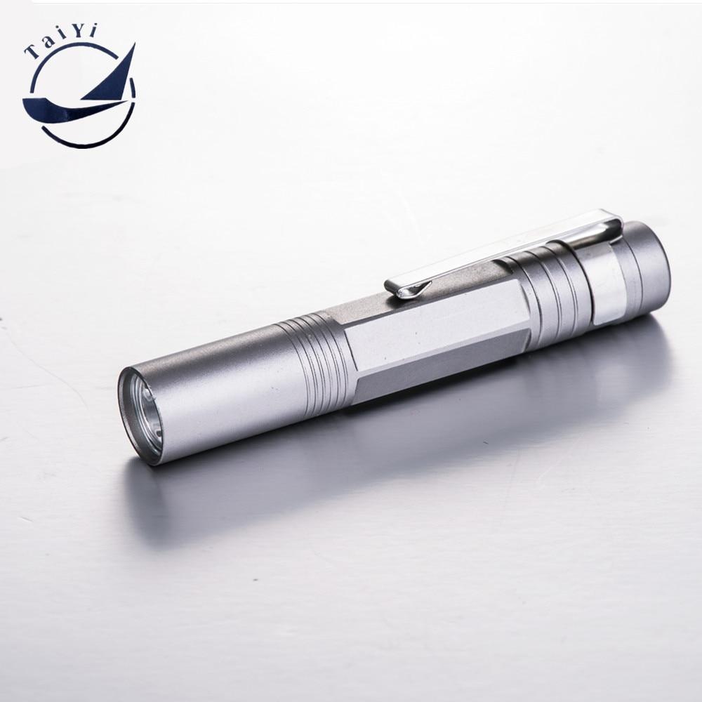 [TAIYI] 2016 गर्म बेचने लोकप्रिय मिनी पेन एलईडी टॉर्च एलईडी कलम के साथ कलम क्लिप प्रीमियम डिजाइन अल्ट्रा उज्ज्वल मुफ्त शिपिंग