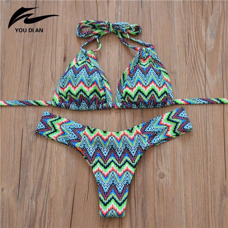 Low waist striped Bikini 1