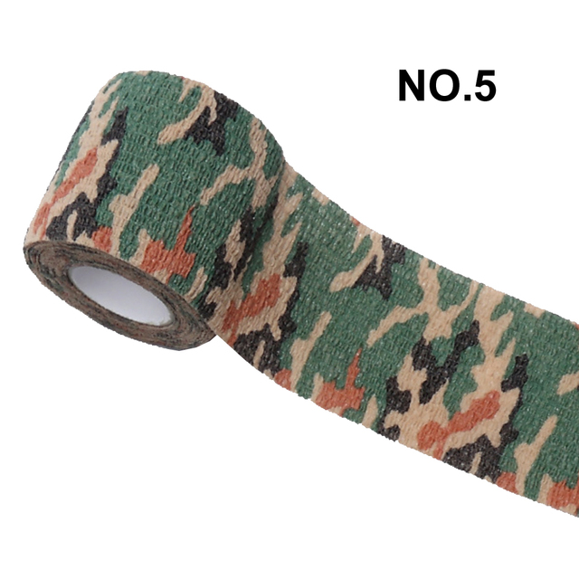 1 Roll 5*450cm Disposable Self-adhesive Flex Elastic Camouflage Bandage Tattoo Handle Grip Tube Wrap Elbow Stick Medical Tape 3