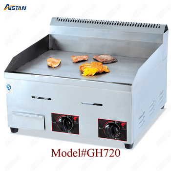 GH718 counter top desk top gas commercial grill griddle machine with grooved for kitchen equipment 2