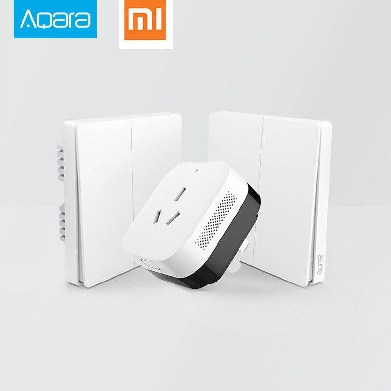 imágenes para 2017 xiaomi smart home gateway 3, Aqara Control de Luz Inteligente ZiGBee/Wifi Inalámbrico Remoto Clave y de Interruptor de Pared A Través de APP Smarphone
