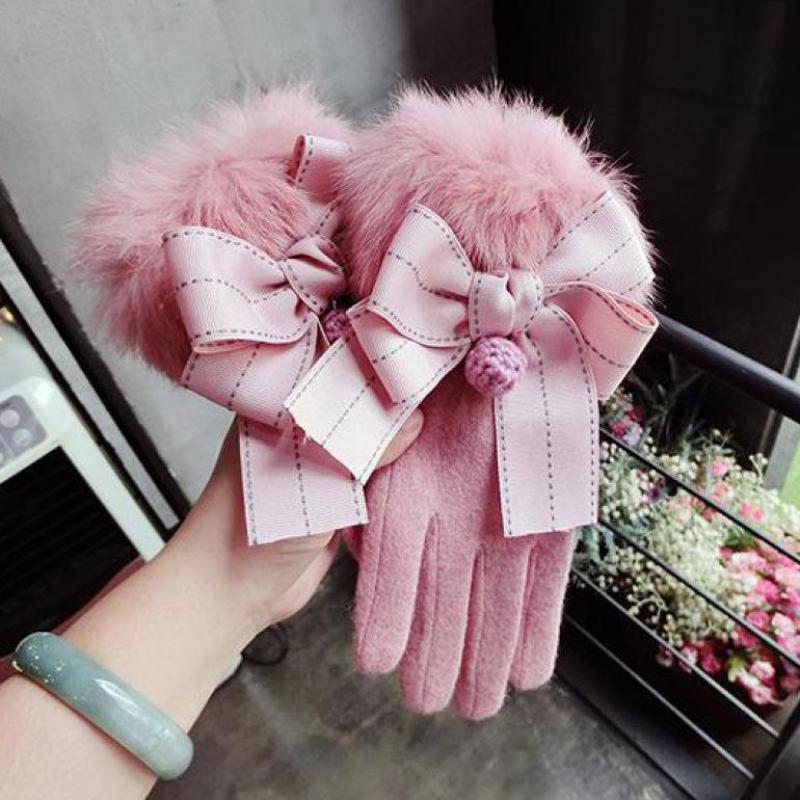 Fashion Korean Winter Women Gloves Touchs
