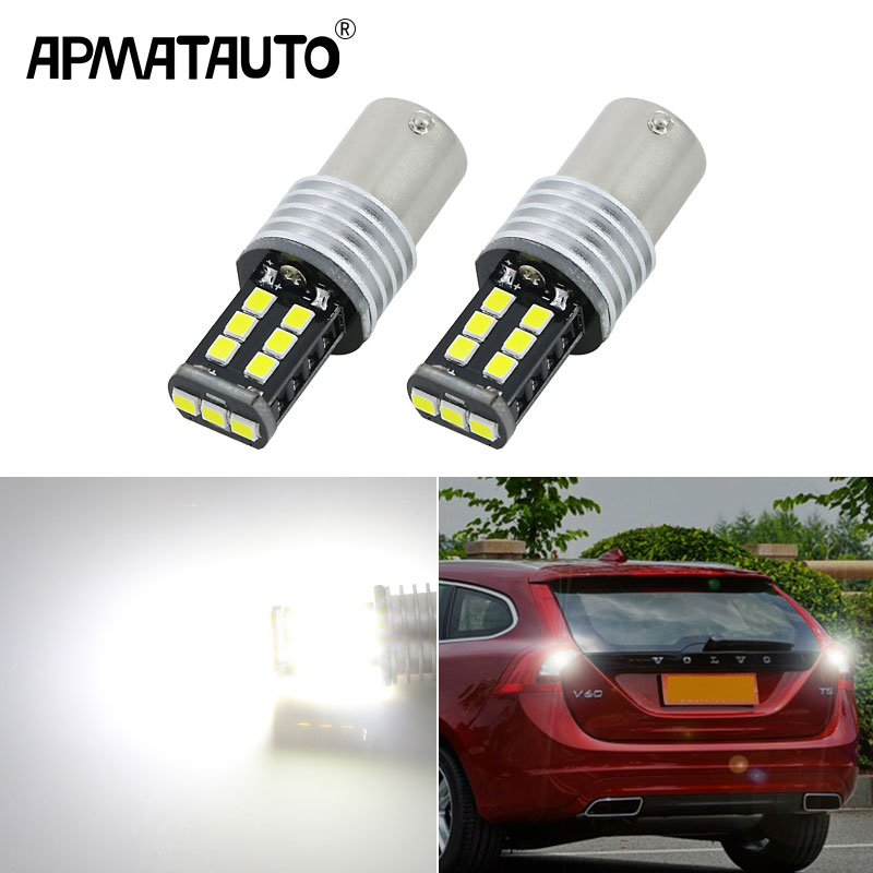 Apmatauto 2x 1156 P21W 15W High Power Car LED <font><b>Rear</b></font> Reversing Tail Bulb For <font><b>volvo</b></font> xc90 xc60 v70 <font><b>s80</b></font> s40 v60 c30 v50 image
