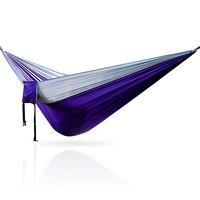 Portátil 300*200 centímetros dupla parachute hammock  cama de dormir para camping.