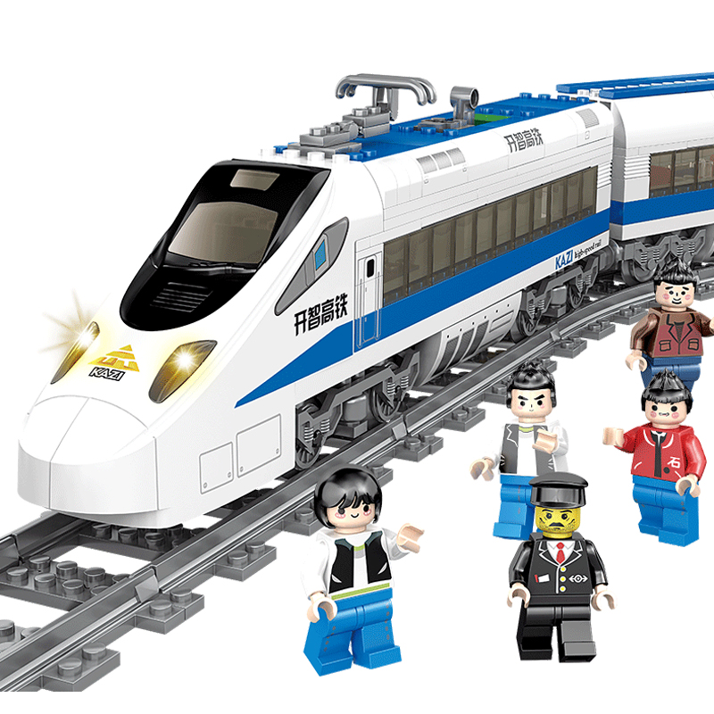 KAZI batterie alimenté électrique classique legoing ville Train Rail blocs de construction briques noël cadeau jouets pour enfants garçons filles