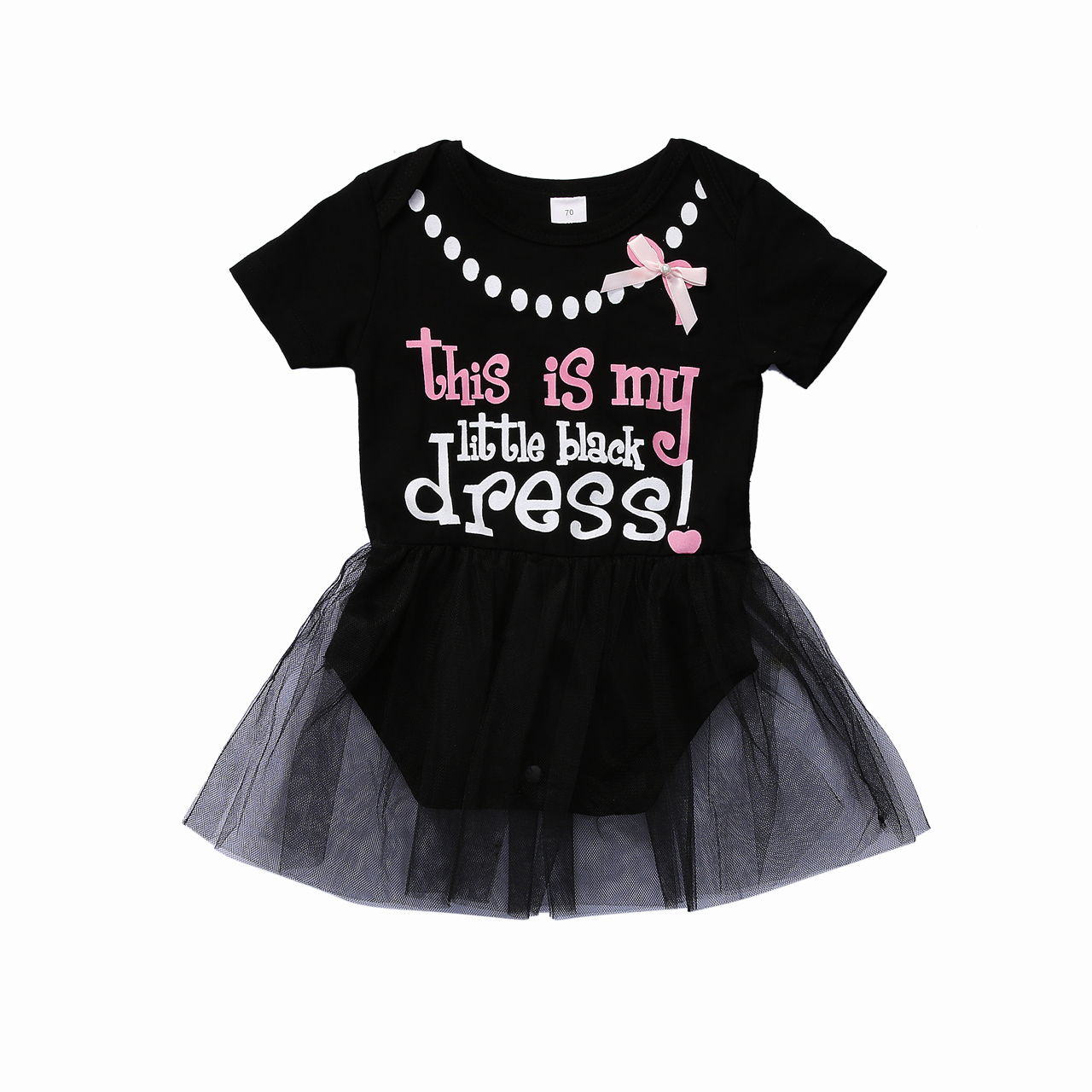 Black dress for baby girl - 2017 Summer Newborn Baby Girl Clothes My Little Black Dress Letter Printed Tutu Skirted Romper Outfits