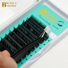 Private Label Big Eyes Secret J B C D L Curl false mink individual eyelashes extension supplies free shipping