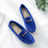 2018 New Summer genuine leather women flats shoes female casual flat women loafers shoes slips leather Gray flat women's shoes