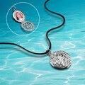 Корейский пара ожерелье можно положить фотографии 925 серебряное ожерелье Г-Жа полая картина ретро фото подвески