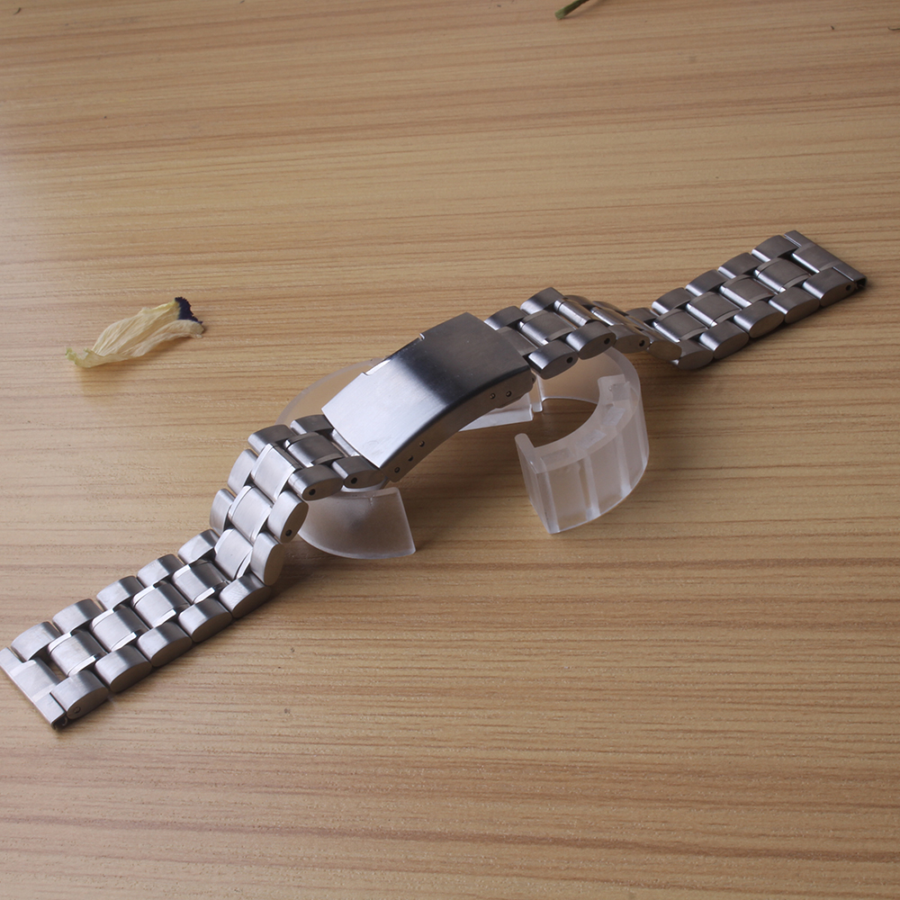 Stainless Steel Watch Band Strap Bracelet Silver Watchbands 16mm 18mm 20mm 22mm 24mm 26mm common watches bands straight end hot new watch band 14mm 16mm 18mm 20mm 22mm 24mm 26mm black stainless steel watch band strap straight end bracelet