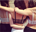 New Sexy Women Cut Out White Modal Botton Strappy Bra Bustier Crop Top Bralette  Crochet Cropped Blusas Bandage Halter Tank Tops