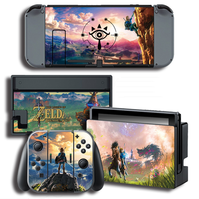 Vinyl Skin Protector Sticker for The Legend of Zeld a for Nintendo Switch NS Console + Controller + Stand Holder Skins 4