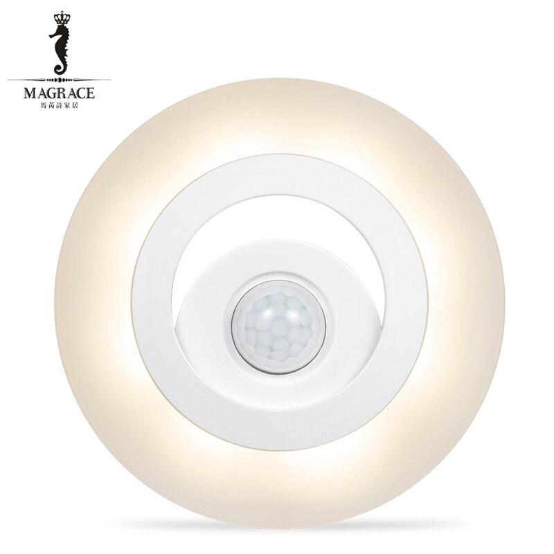 Auto Night Light Body Sensors LED Light Motion Detector warm white wardrobe Bedside Room Night Lamp Movable Wall Emergency Lamp