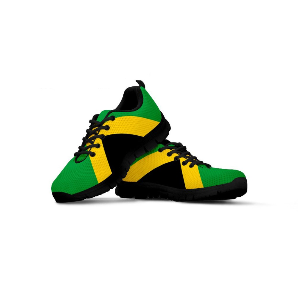 INSTANTARTS Men's Sneakers Jamaica Flag 3D Print Fashion Youth Girl Trainer Walking Shoes Spring Air Mesh Zapatos Man Flat Shoes
